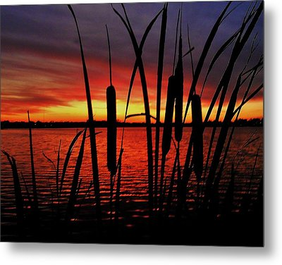 Indiana Sunset Metal Print by Benjamin Yeager
