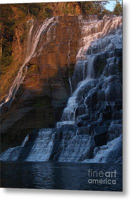 Ithaca Falls In Autumn Metal Print by Anna Lisa Yoder