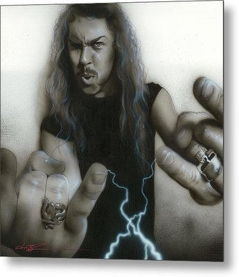 'james Hetfield' Metal Print by Christian Chapman Art