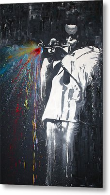 Jazz Man Metal Print by Aaron Stansberry