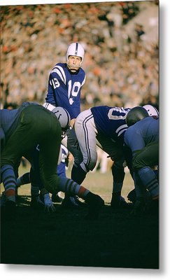 Johnny Unitas Ready  Metal Print by Retro Images Archive