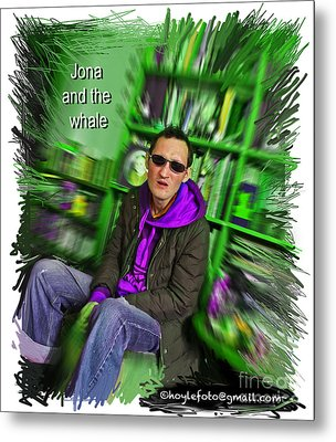 Jonah And The Whale Fan Metal Print by Mike Hoyle