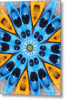 Kaleidoscope Canoes Metal Print by Amy Cicconi