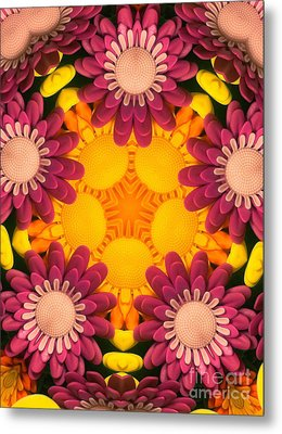Kaleidoscope Daisies Metal Print by Amy Cicconi