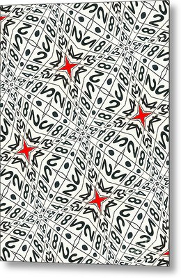 Kaleidoscope Random Numbers Metal Print by Amy Cicconi