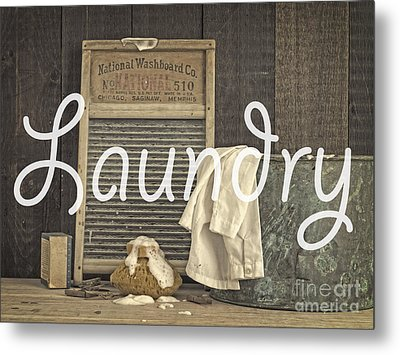 Laundry Room Sign Metal Print by Edward Fielding