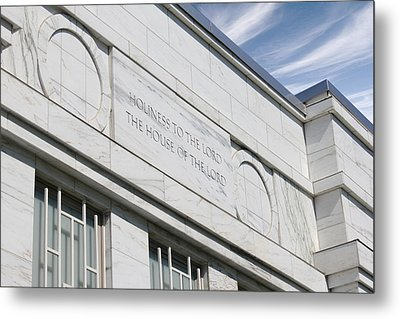 Lds Temple Raleigh Nc Metal Print by Nathanael Verrill