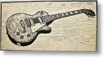 Les Paul Metal Print by William Cauthern