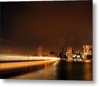 Light Across The Bay Metal Print by Justin Woodhouse
