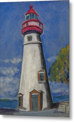 Lighthouse At Marblehead Metal Print by Richard Goohs