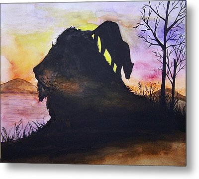 Lion Metal Print by Laneea Tolley