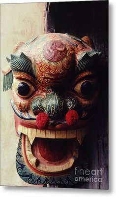 Lion Mask For Chinese New Year Metal Print by Anna Lisa Yoder