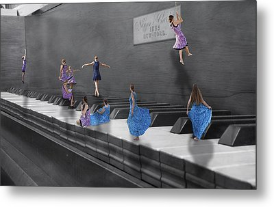 Little Composers I Metal Print by Betsy Knapp