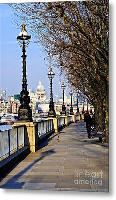 London View From South Bank Metal Print by Elena Elisseeva