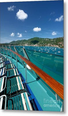 Lounge Chairs On Cruise Ship Metal Print by Amy Cicconi