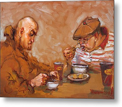 Lunchtime At Tim  Metal Print by Ylli Haruni
