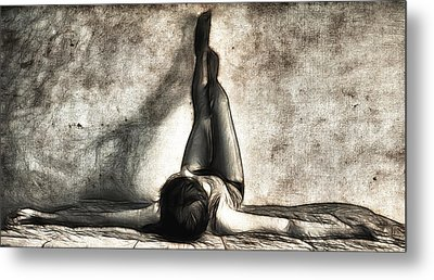 Lying Down Metal Print by Tilly Williams