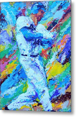 Major League Player Metal Print by Charles Ambrosio