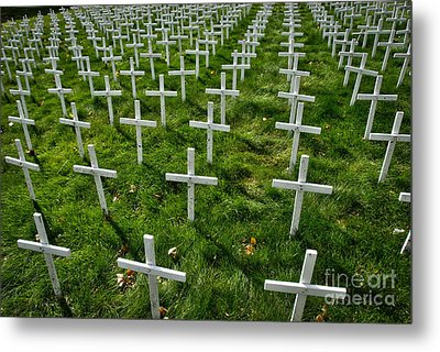 Many Crosses Metal Print by Amy Cicconi