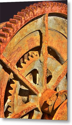 Meshing Gears Metal Print by Phyllis Denton
