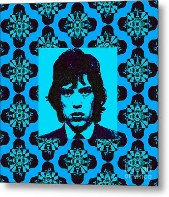 Mick Jagger Abstract Window P168 Metal Print by Wingsdomain Art and Photography