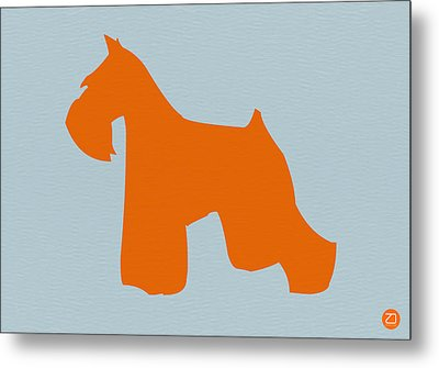 Miniature Schnauzer Orange Metal Print by Naxart Studio