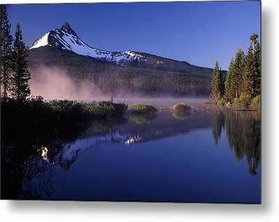 Mist Off Of Big Lake Metal Print by Joe Klune