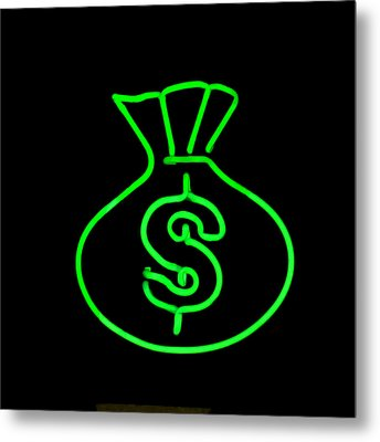 Money Bag Metal Print by Art Block Collections