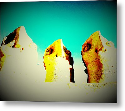 Monitors - Blue Sky Metal Print by Mark M  Mellon