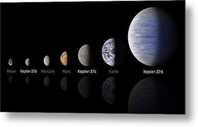 Moon Size Line Up Metal Print by Movie Poster Prints