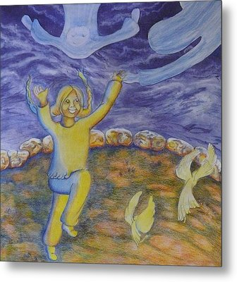Moonchild - In Paradise Metal Print by Jacquelyn Roberts
