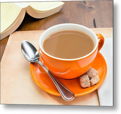 Morning Coffee Metal Print by Nathalie Deslauriers