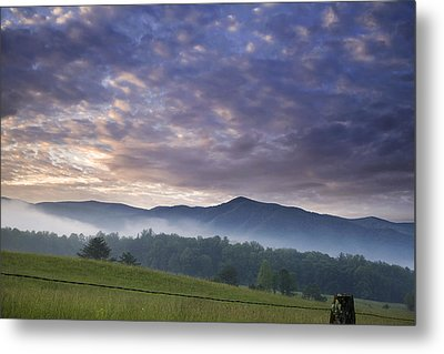 Morning In Cades Cove Metal Print by Andrew Soundarajan