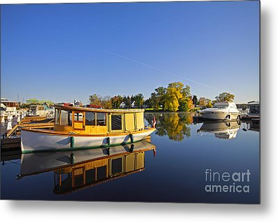 Morning Marina Metal Print by Charline Xia
