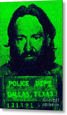 Mugshot Willie Nelson P88 Metal Print by Wingsdomain Art and Photography