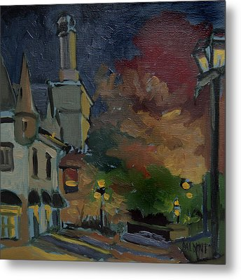 Musee Du Fort Night Study Metal Print by J R Baldini