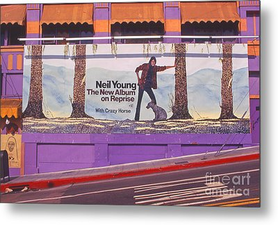 Neil Young Billboard Metal Print by Frank Bez
