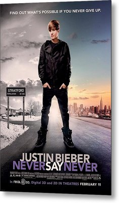 Never Say Never 1 Metal Print by Movie Poster Prints