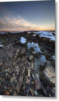 New Castle Dawn Metal Print by Eric Gendron