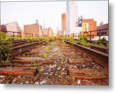 New York City - Abandoned Railroad Tracks Metal Print by Vivienne Gucwa