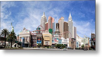 New York New York Las Vegas Metal Print by Jane Rix