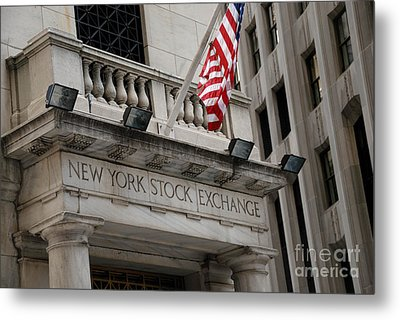 New York Stock Exchange Building Metal Print by Amy Cicconi