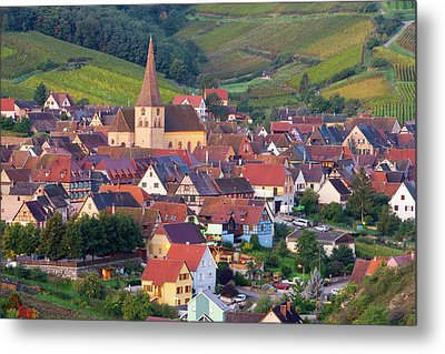 Niedermorschwihr, Alsace, France Metal Print by Peter Adams