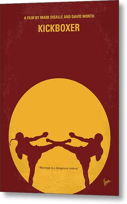 No178 My Kickboxer Minimal Movie Poster Metal Print by Chungkong Art