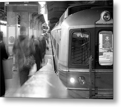 Metro North/ct Dot Commuter Train Metal Print by Mike McGlothlen