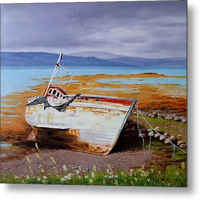 Old Boat Metal Print by Lepercq Veronique