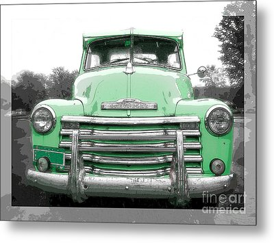 Old Chevy Pickup Truck Metal Print by Edward Fielding