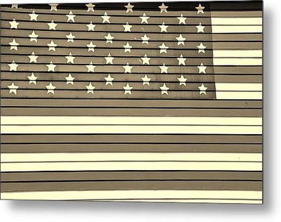 Old Glory  Sepia Metal Print by Elizabeth Sullivan