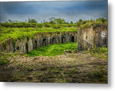 On Top Of Fort Macomb Metal Print by David Morefield