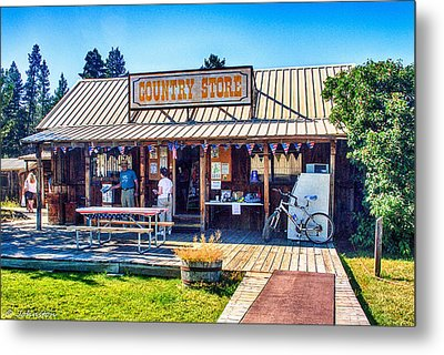 Oregon Country Store Metal Print by Bob and Nadine Johnston